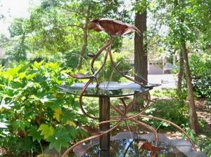 Custom Copper Birdbath