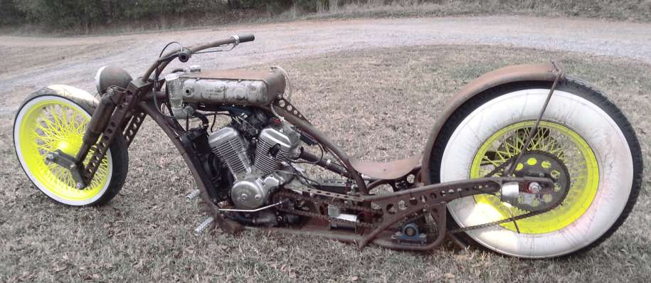 Custom Rat Bike Motorcycle - View portfolio for more photos and project details