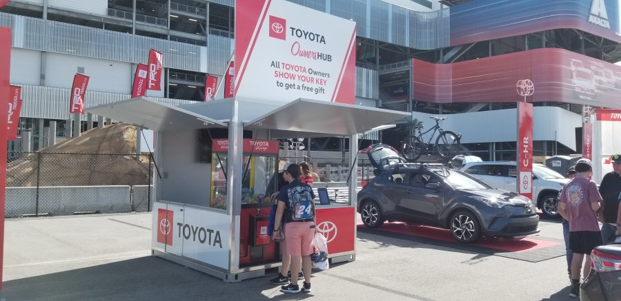 Photo Toyota Marketing Small Pod pop-up shops, small-format stores, mobile retail, popup store Reaper Custom Fabrication Matt Greene welder welding King Tobaccoville Winston-Salem NC