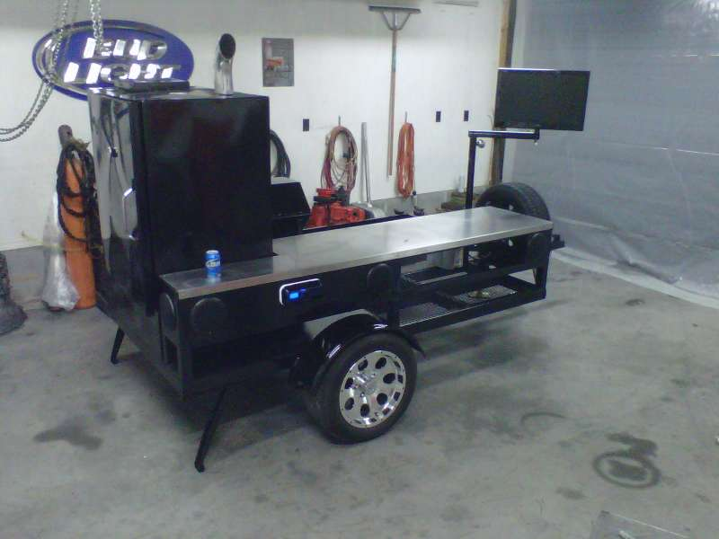 Photo Custom Smoker Grill Reaper Custom Fabrication Matt Greene Winston-Salem NC